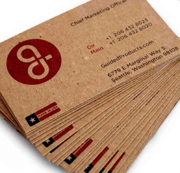 tarjetas de presentación transparentes